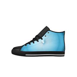 Light Blue Plafond Aquila High Top Microfiber Leather Men's Shoes (Model 027)