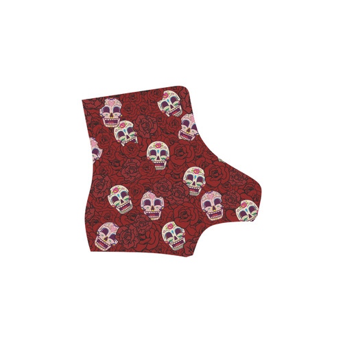 Rose Sugar Skull Martin Boots For Women Model 1203H