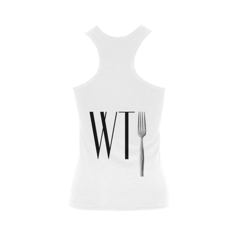 Funny WTF WTFork Women's Shoulder-Free Tank Top (Model T35)