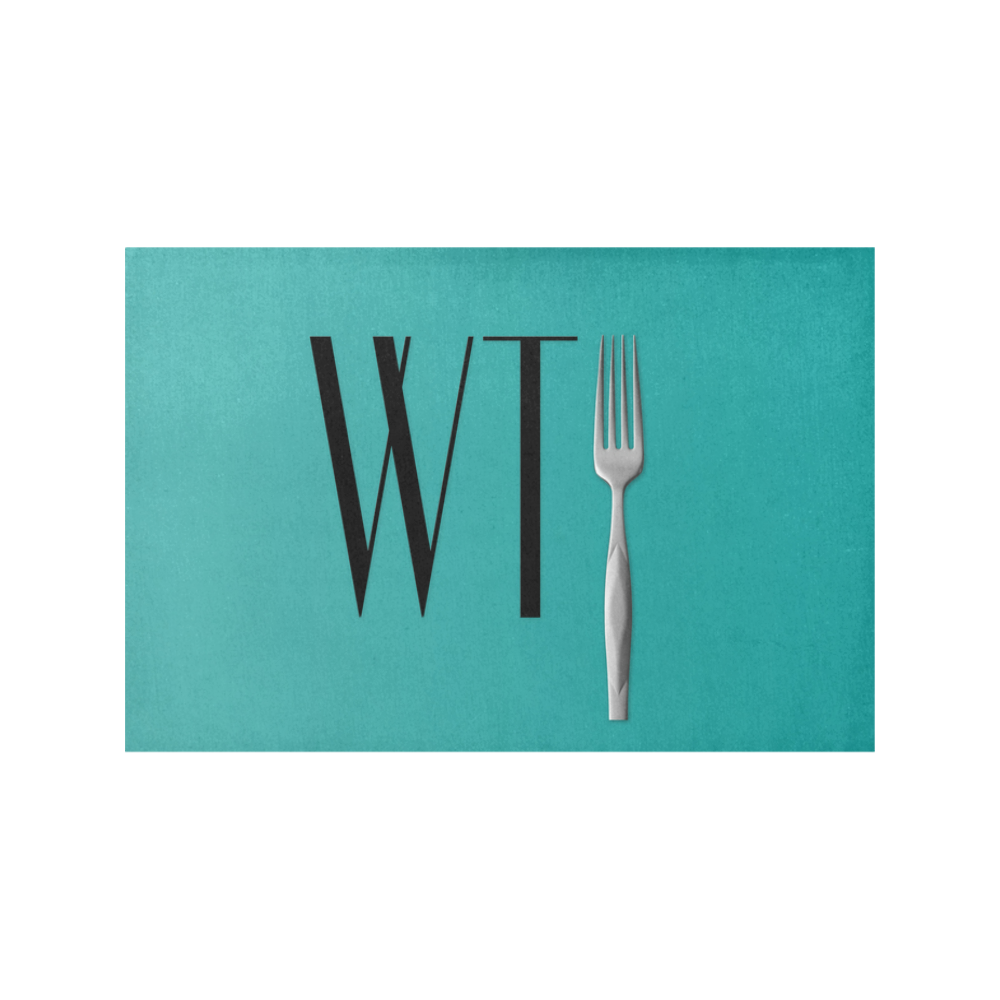 Funny WTF WTFork Placemat 12'' x 18'' (Four Pieces)