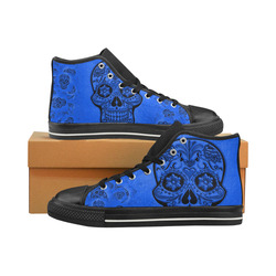Skull20170260_by_JAMColors High Top Canvas Women's Shoes/Large Size (Model 017)