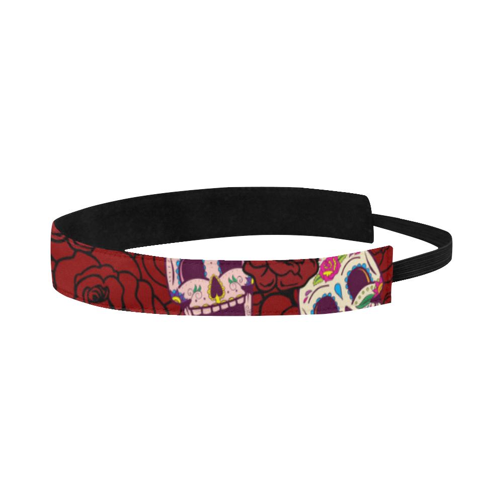 Rose Sugar Skull Sports Headband