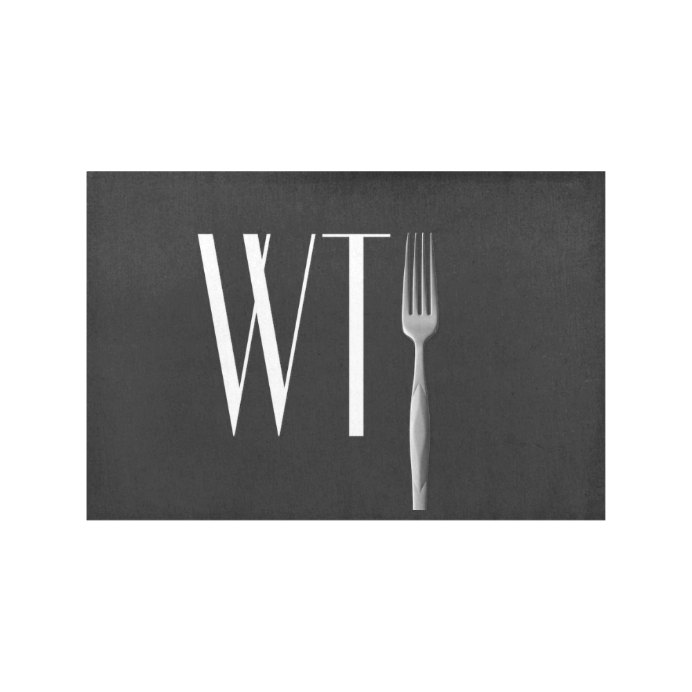 Funny WTF WTFork Placemat 12''x18''