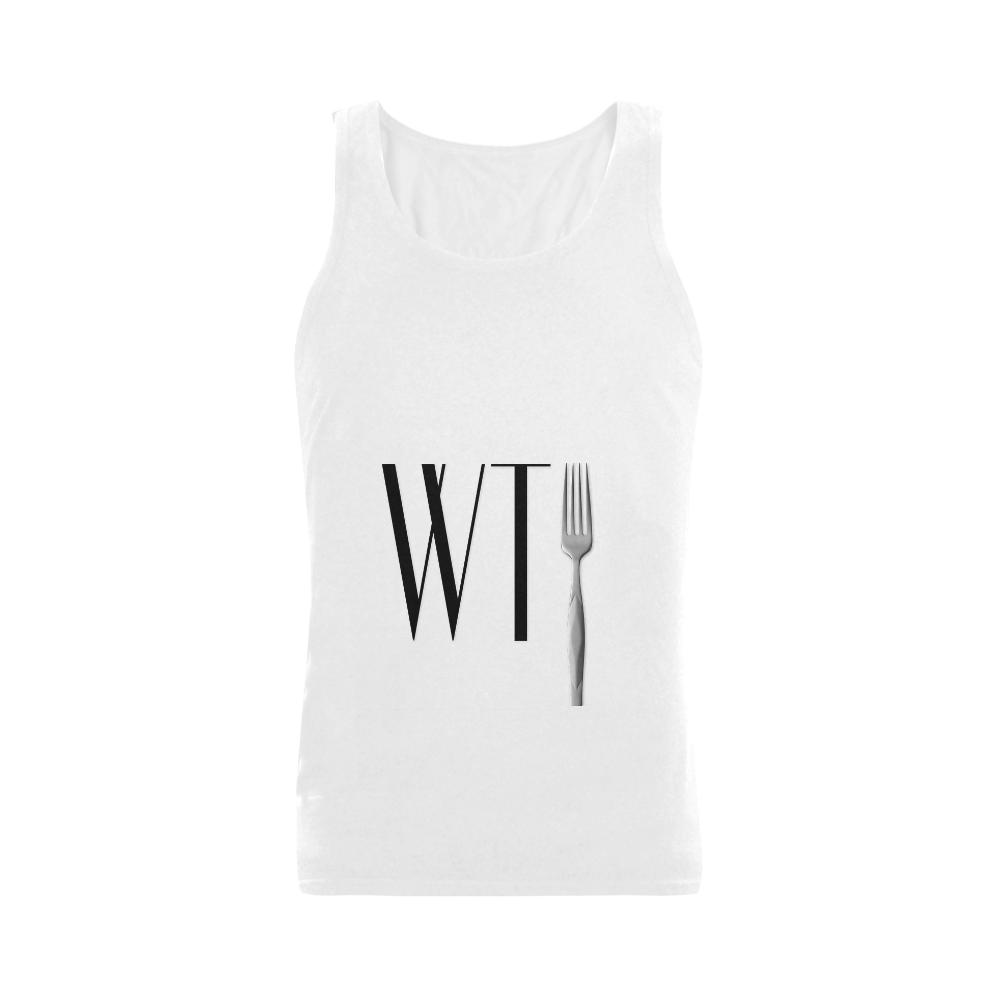 Funny WTF WTFork Men's Shoulder-Free Tank Top (Model T33)