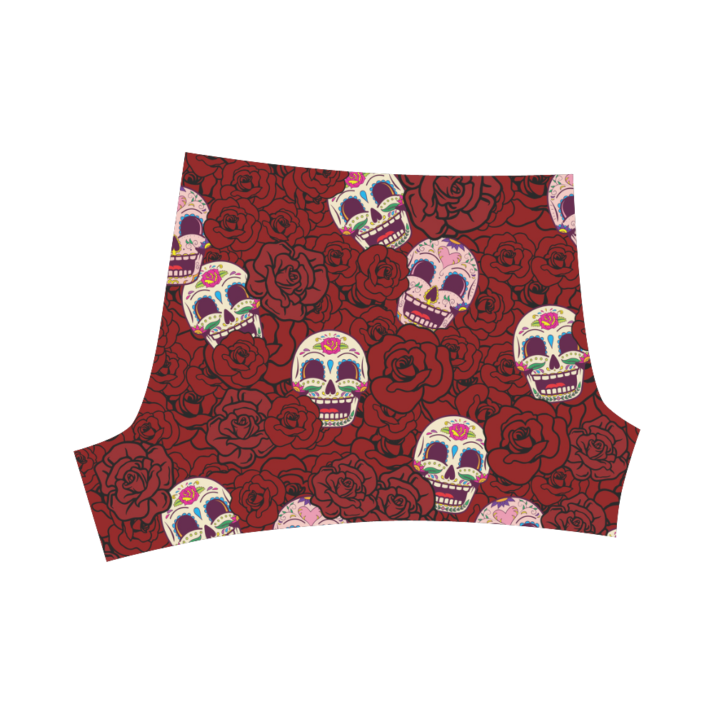 Rose Sugar Skull Briseis Skinny Shorts (Model L04)