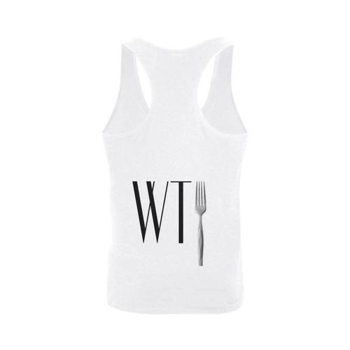Funny WTF WTFork Plus-size Men's I-shaped Tank Top (Model T32)