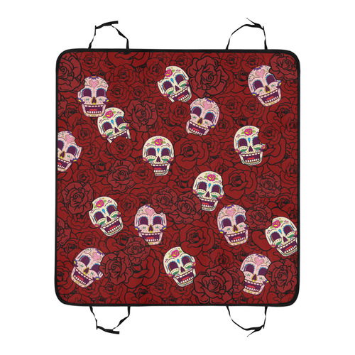 Rose Sugar Skull Pet Car Seat 55''x58''