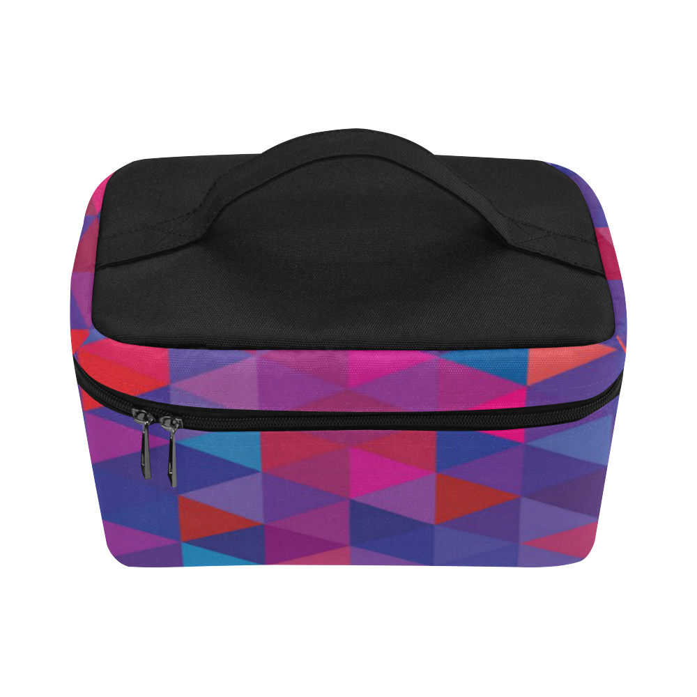 Unique Original Purples and Blue Geo Abstract Lunch Bag/Large (Model 1658)