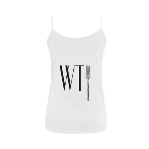 Funny WTF WTFork Women's Spaghetti Top (USA Size) (Model T34)