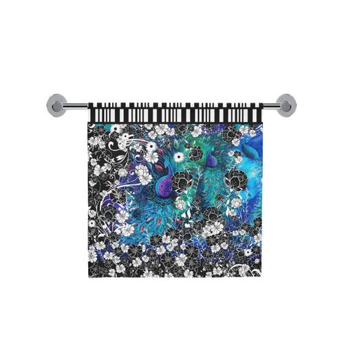 "Peacock Flower Scroll Stripe Print Towel Bath Towel 30""x56"""