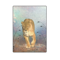 "Wonderful lioness Blanket 58""x80"""