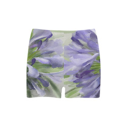 Delicate Purple Flowers, floral watercolor Briseis Skinny Shorts (Model L04)