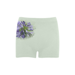 Delicate Purple Flower, floral watercolor Briseis Skinny Shorts (Model L04)