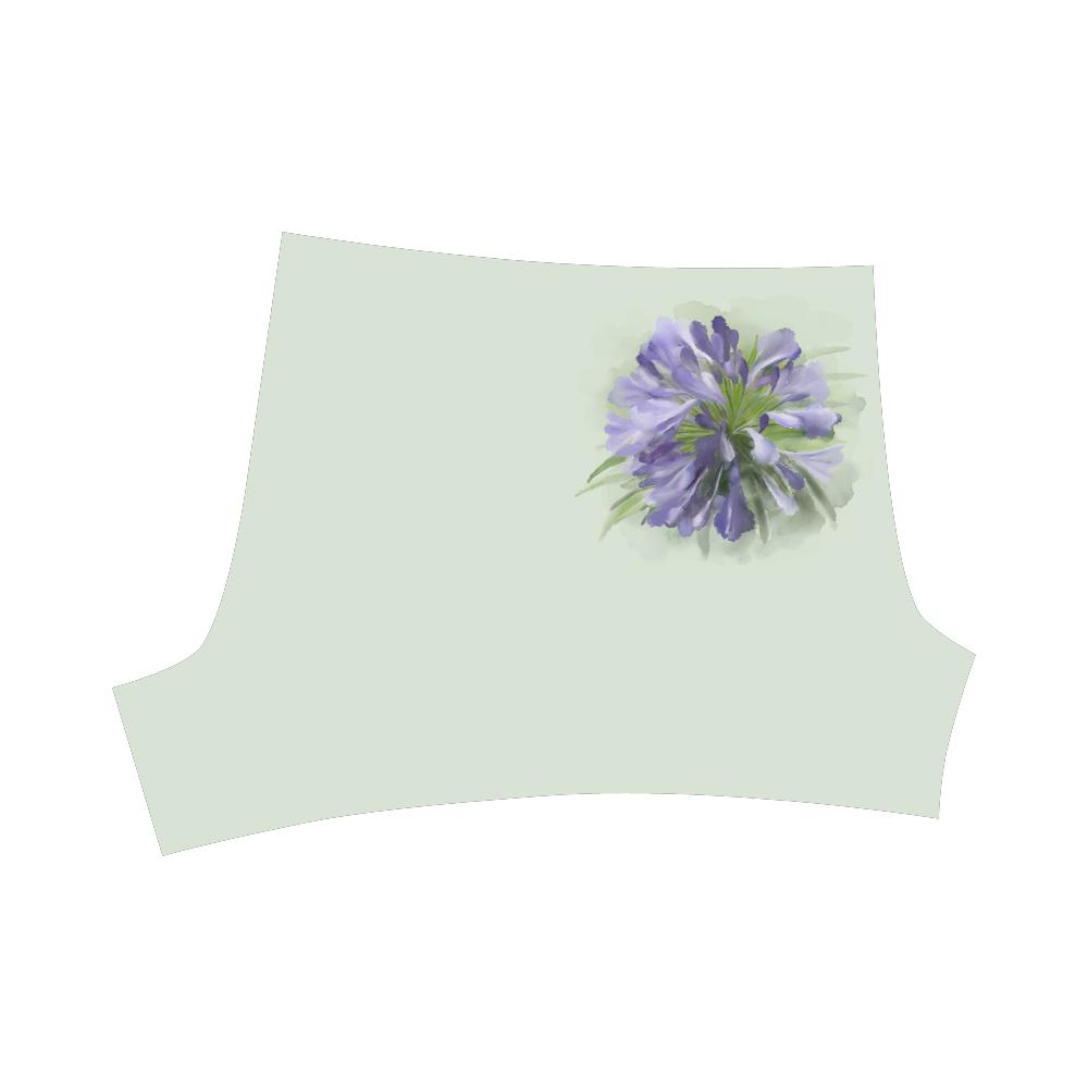 Delicate Purple Flower, floral watercolor Briseis Skinny Shorts (Model L04)