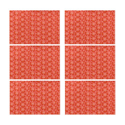 Tomato Pattern Placemat 12'' x 18'' (Six Pieces)