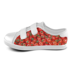 Red Tomatoes Velcro Canvas Kid's Shoes (Model 008)
