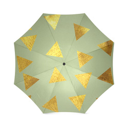 gold and pink triangle 2 Foldable Umbrella (Model U01)