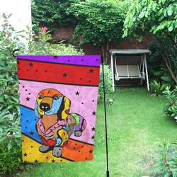 Dachshund by Nico Bielow Garden Flag 12''x18''(Without Flagpole)