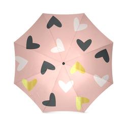 gold heart multi Foldable Umbrella (Model U01)