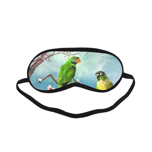 Funny cute parrots Sleeping Mask