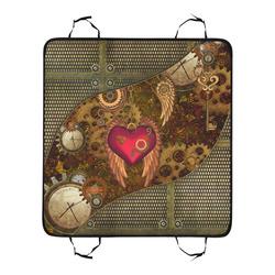 Steampunk, heart with wings New Pet Car Seat 55''x58''