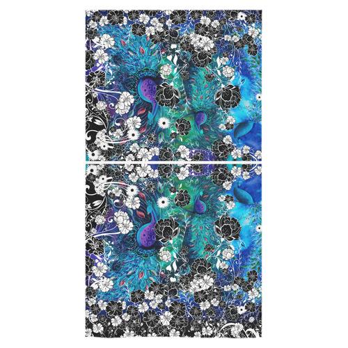 "Peacock Colorful Flower Print Towel Bath Towel 30""x56"""
