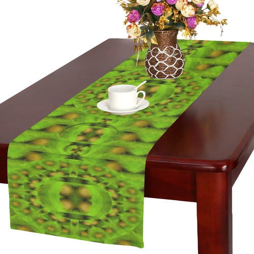 peace eggs and feathers tribute pop art Table Runner 16x72 inch