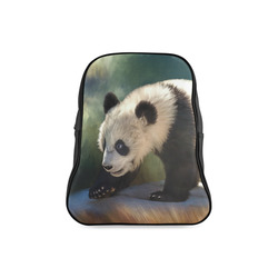 A cute painted panda bear baby. School Backpack/Large (Model 1601)