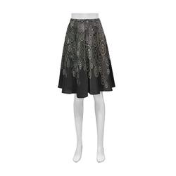 3D Psychedelic soft color Rose Athena Women's Short Skirt (Model D15)