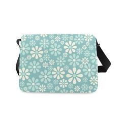 Sweet Blue Floral Messenger Bag (Model 1628)