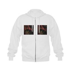 fractal pattern with dots and waves Gildan Full Zip Hooded Sweatshirt (Model H02)