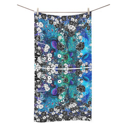 "Peacock Colorful Flower Print Towel Bath Towel 30""x56"""
