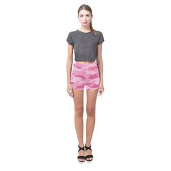 Pink Camo Briseis Skinny Shorts (Model L04)