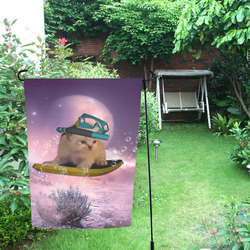 Funny surfing kitten Garden Flag 12''x18''(Without Flagpole)