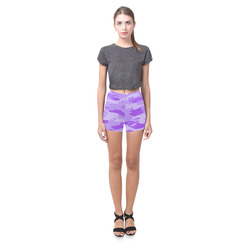Purple Camo Briseis Skinny Shorts (Model L04)