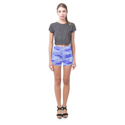Blue Camo Briseis Skinny Shorts (Model L04)