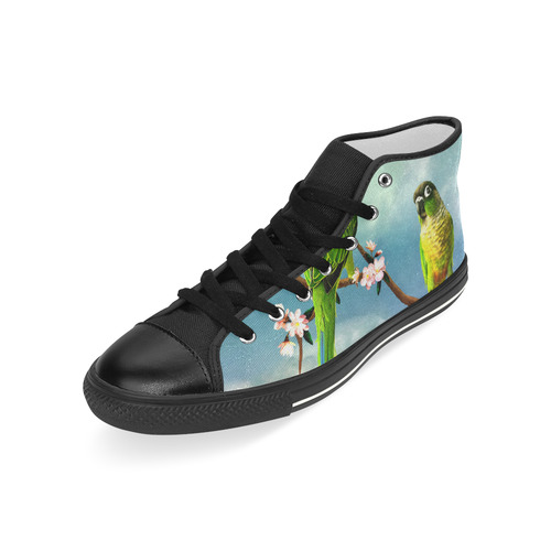 Funny cute parrots Men's Classic High Top Canvas Shoes (Model 017)