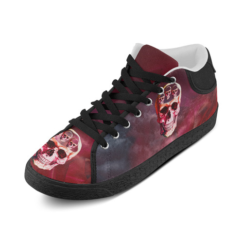 Funny Skulls Women's Chukka Canvas Shoes (Model 003)