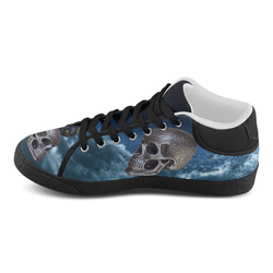 Skull and Moon Women's Chukka Canvas Shoes (Model 003)