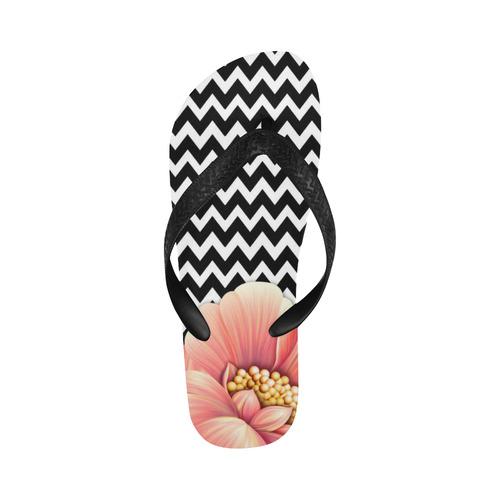 flower power, flowers Flip Flops for Men/Women (Model 040)