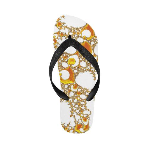 special fractal 04 orange Flip Flops for Men/Women (Model 040)