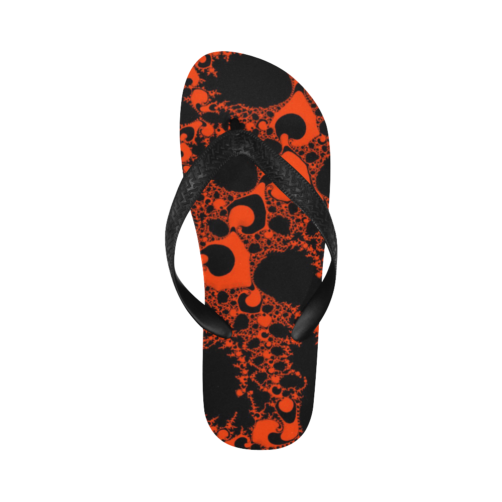 special fractal 04 red Flip Flops for Men/Women (Model 040)