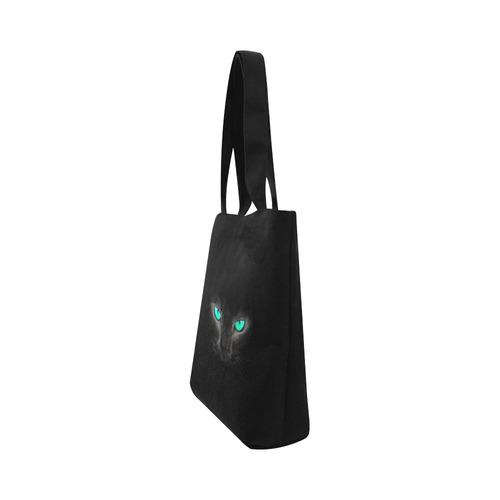 BLACK Canvas Tote Bag (Model 1657)