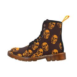 Hot Skulls,orange by JamColors Martin Boots For Women Model 1203H