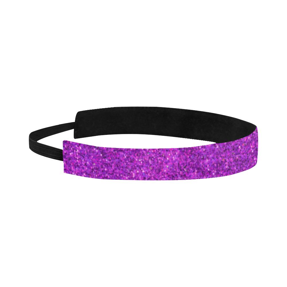 purple glitter Sports Headband