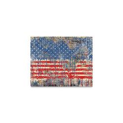 "8x10 Canvas Print Music Decor Music Art By Juleez Painted Wall USA Flag Canvas Print 10""x8"""
