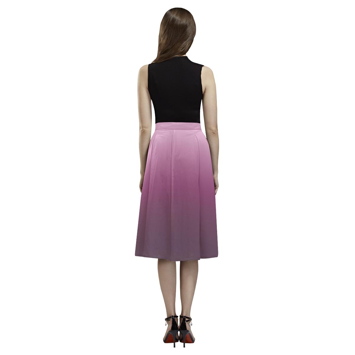 Purple Ombre Gradient Aoede Crepe Skirt (Model D16)