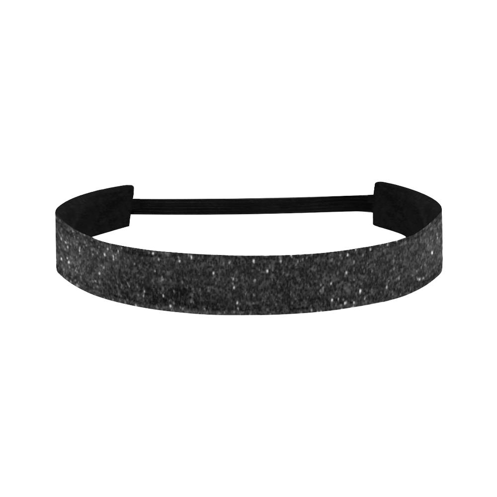 black glitter Sports Headband