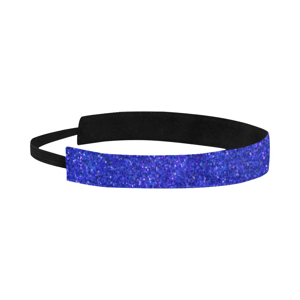 blue glitter Sports Headband