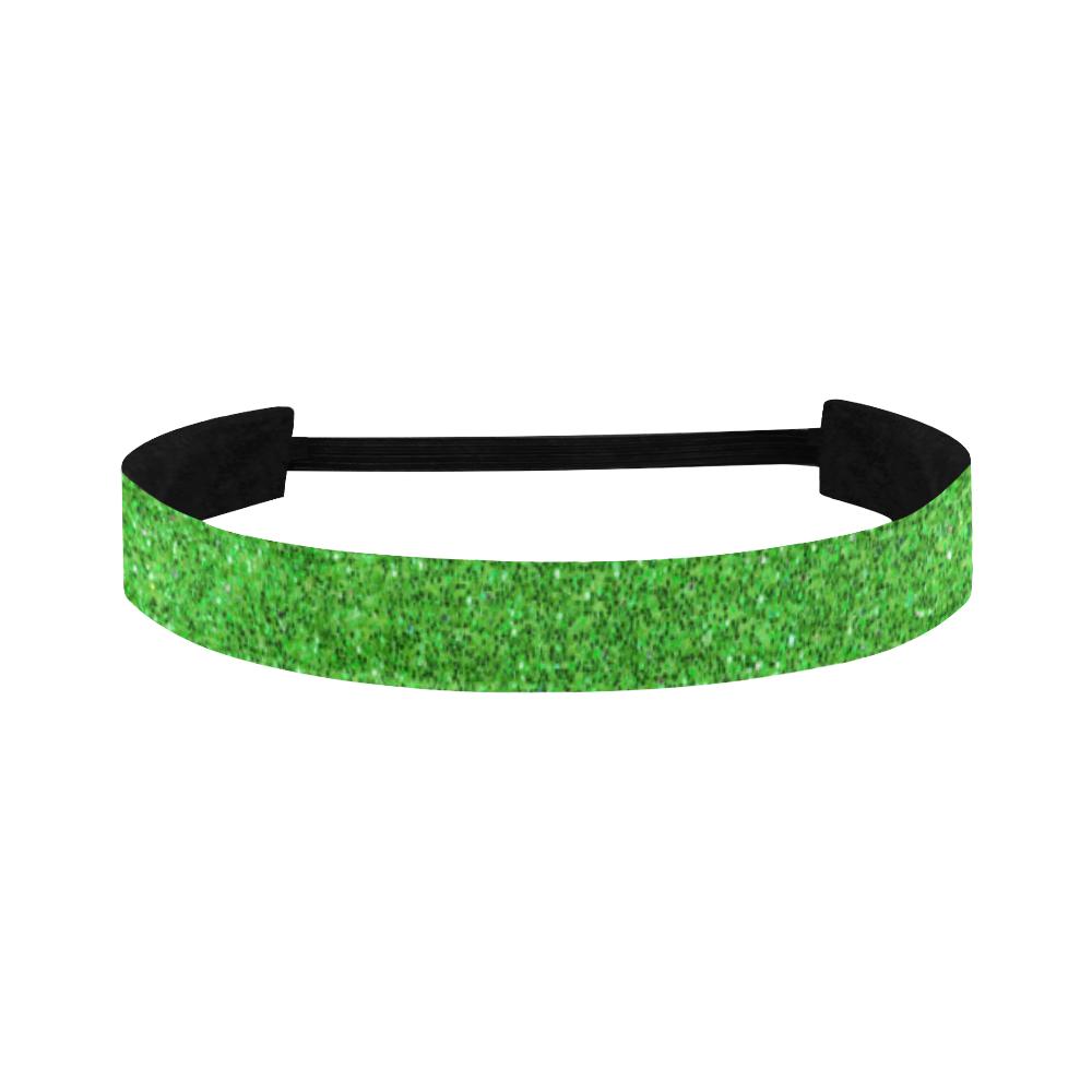 green glitter Sports Headband